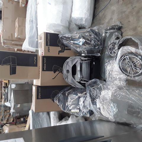 NUNA MIXX NEXT 4 PIECE PUSHCHAIR BUNDLE INCLUDING PIPA NEXT BASE, CARRY COT AND CAR SEAT - GRANITE (4 BOXES)