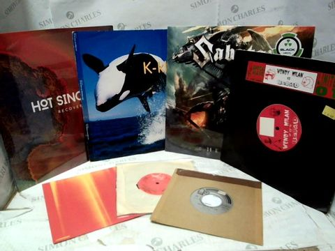 LOT OF APPROXIMATELY 35 ASSORTED VINYL RECORDS & SINGLES