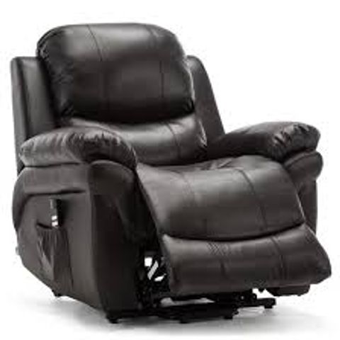 BOXED MADISON BLACK FAUX LEATHER RECLINER CHAIR (1 BO )