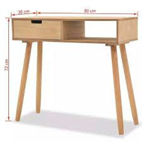 BOXED GRACELYN BROWN CONSOLE TABLE (1 BOX)