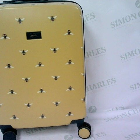 JOULES WOMENS HARDSIDECABIN TROLLEY 4 WHEEL TROLLEY CASE SPINNER BOTANICAL BEE DESIGN 54CM X 37CM X 20CM 31 LITRES 2.7KG