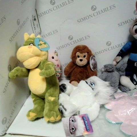 LOT OF APPROX 7 STUFFED TOYS TO INCLUDE: DIGBY, ABOMINABLE, CUDDLY MONKEY