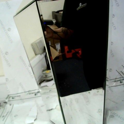 JULIEN MACDONALD GEOMETRIC MIRRORED SIDE TABLE - COLLECTION ONLY