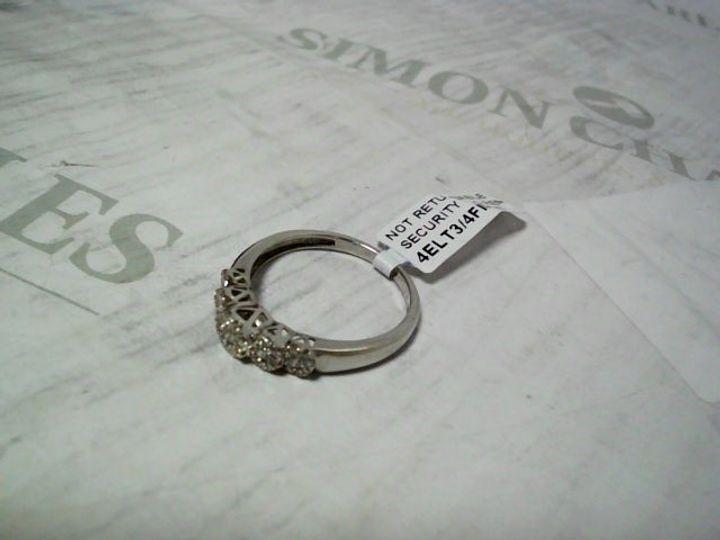 LOVE DIAMOND 9 CARAT WHITE GOLD, 35 POINT 5 CLUSTER ETERNITY RING