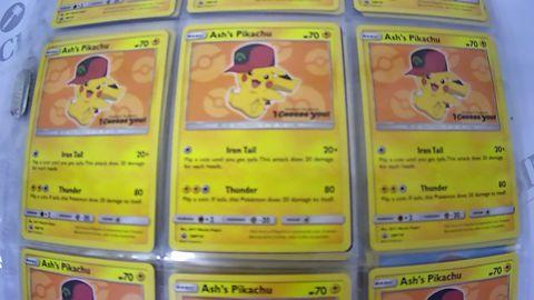 5 SETS OF 10 POKEMON ASH'S PIKACHU TRADING CARDS