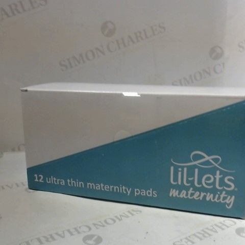 BOX OF 12 LIL-LETS MATERNITY ULTRA THIN PADS