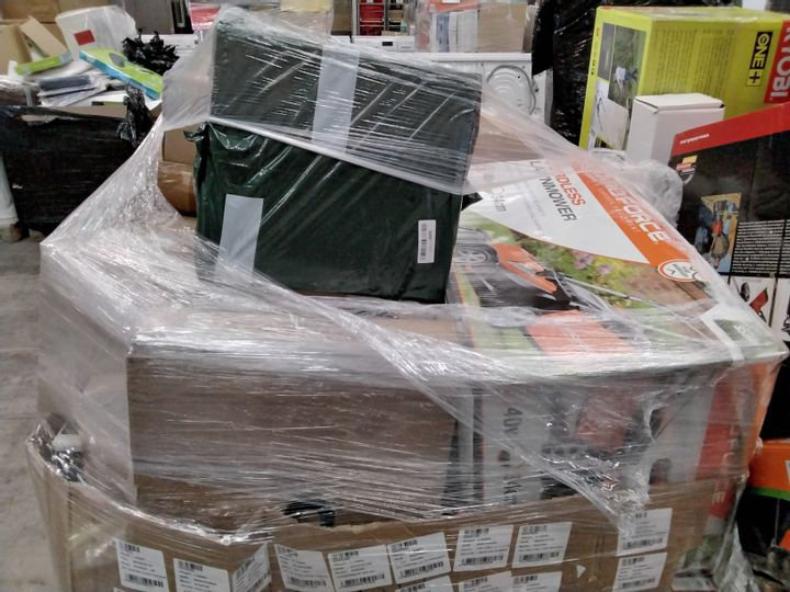 PALLET OF APPROXIMATELY 32 ASSORTED LAWNMOWERS  & GARDENING TOOLS, INCLUDING,