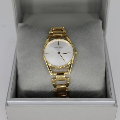 BRAND NEW BOXED CALVIN KLEIN WATCH GOLD CHAIN LINKS