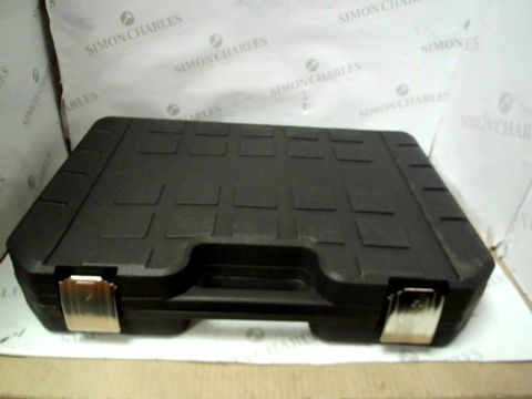 BLACK TOOLBOX OF SCREW HEADS AND ATTACHMENTS