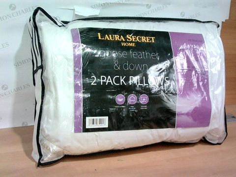 LAURA SECRET HOME GOOSE FEATHER AND DOWN 2 PACK PILLOWS