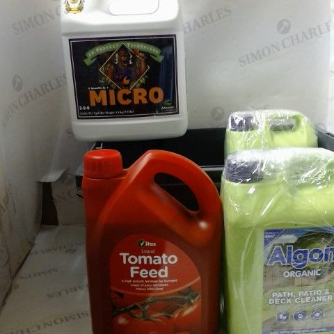 LOT OF 4 ITEMS TO INLCUDE TOMATO FEED, PATIO AND DECK CLEANER ETC