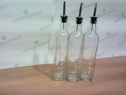 SET OF 3 KITCHEN OIL BOTTLES