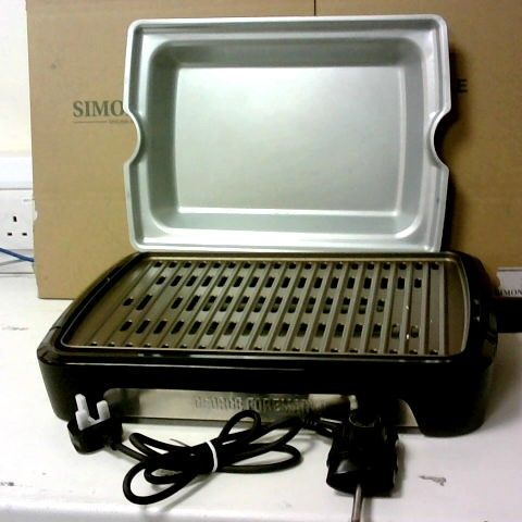 GEORGE FOREMAN LARGE SMOKELESS BBQ GRILL