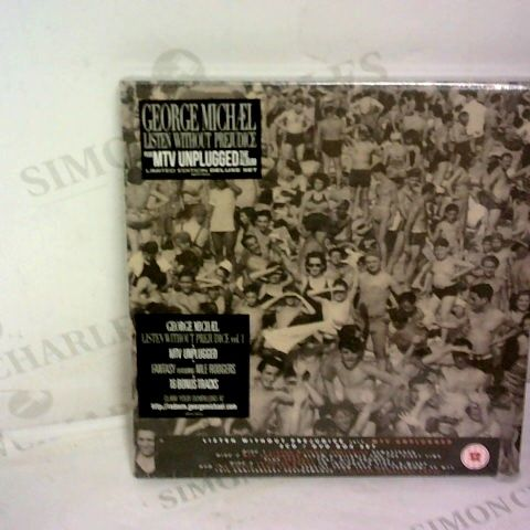 GEORGE MICHAEL - LISTEN WITHOUT PREJUDICE MTV UNPLUGGED SUPER DELUXE NEW CD