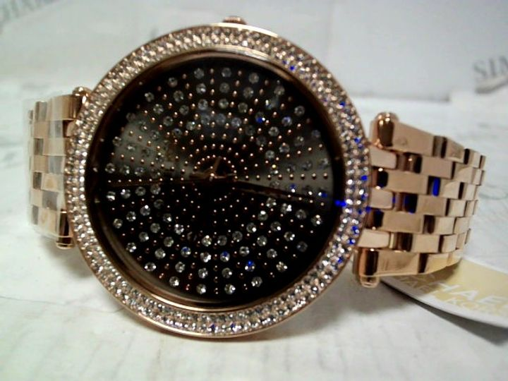 MICHAEL KORS DARCI GUNMETAL & CRYSTAL FACE WATCH