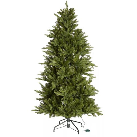3 ASSORTED BOXED SANTA'S BEST 116 FUNCTION PRE-LIT DELUXE SPRUCE CHRISTMAS TREE - NATURAL 6FT
