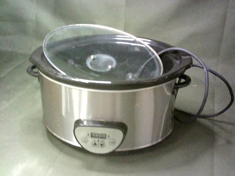 VENGA VG SC 3008 SLOW COOKER - 280 W, STAINLESS STEEL, CERAMIC, GLASS, PLASTIC, 4.5 L, SILVER