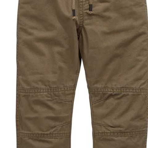 BOYS JERSEY LINED TROUSERS - KHAKI (LOT OF APPROXIMATELY 19) VARIOUS SIZES - 3-6 MONTHS, 6-9 MONTHS AND 18-24 MONTHS