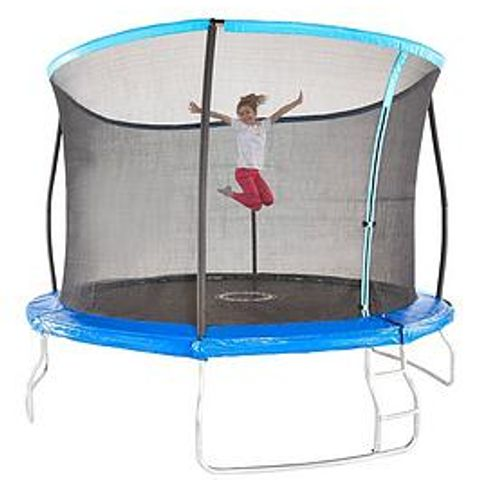 UNBOXED SPORTSPOWER 14FT TRAMPOLINE WITH EASI-STORE FOLDING ENCLOSURE