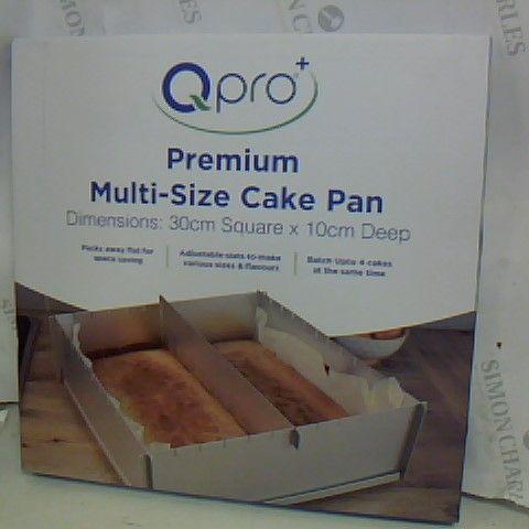 QPRO+ PREMIUM MULTI-SIZE CAKE PAN - 302M SQUARE 10CM DEEP