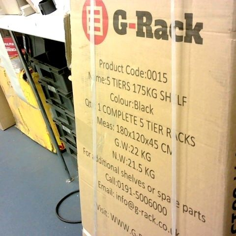 G-RACK - 5 TIERS SHELF - BLACK