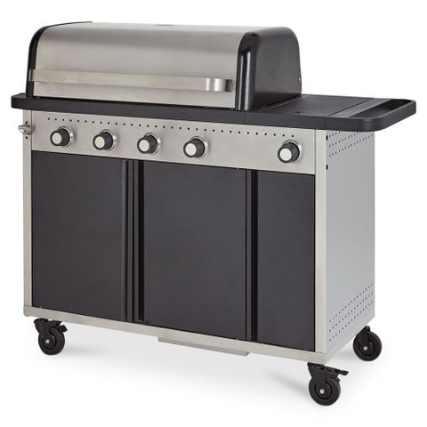 BOXED GOODHOME ROCKWELL HYBRID BARBECUE GAS AND CHARCOAL MODEL 400 2 BOXES