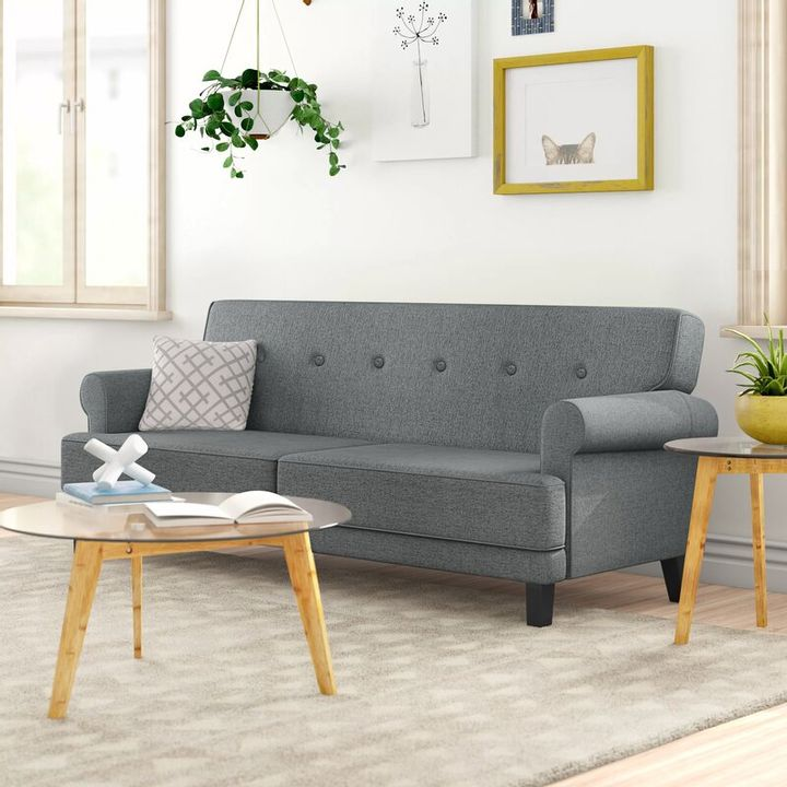 BOXED WEBSTER WILLOW GREY FABRIC SOFA BED (1 BOX)