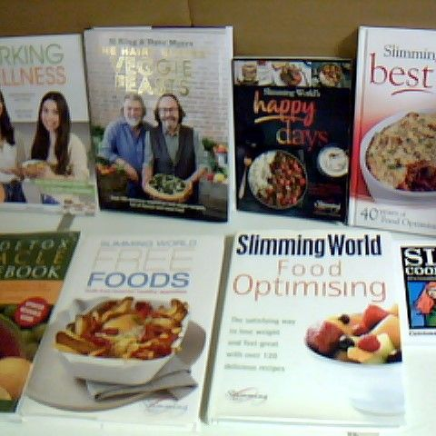 ASSORTMENT OF COOKBOOKS TO INCLUDE THE HAIRY BIKERS AND SLIMMING WORLD
