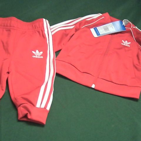 ADIDAS SCARLET RED KIDS TRACKSUIT 6-9 MONTHS