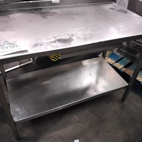 COMMERCIAL METAL PREP TABLE WITH UNDERSHELF 120 × 65cm