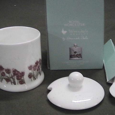 ROYAL WORCHESTER WRENDALE DESIGN CONSERVE POT WITH SPOON
