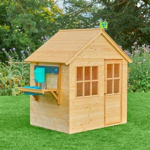 BOXED HIDEAWAY WOODEN PLAYHOUSE WITH MUD KITCHEN (BOX 2 ONLY)