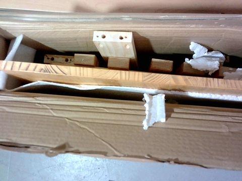 BOXED DESIGNER OAK EFFECT FURNITURE PARTS