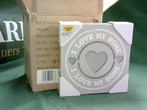 4 X LOVE MY HOME LIGHT UP BOXES