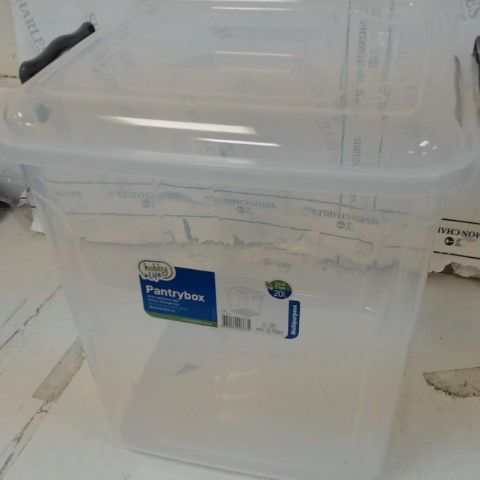 20 LITRE PANTRY/STORAGE BOX WITH LID