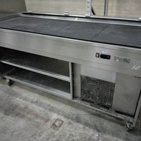 FRANCE INOX REFRIGERATED SERVING TROLLEY (MISSING GLASS SNEEZE GUARD)