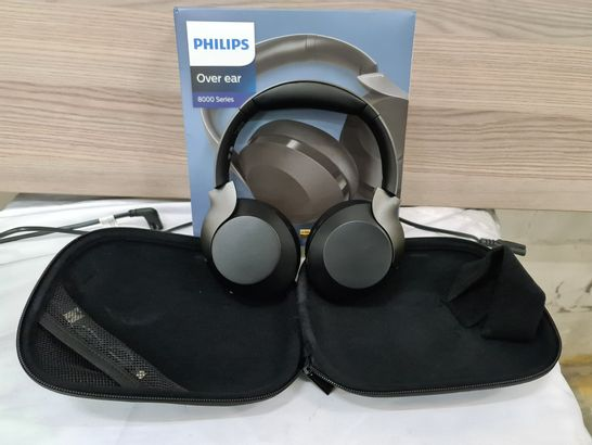 PHILIPS TAPH805 8000 SERIES OVER EAR ACTIVE NOISE CANCELING BLUETOOTH HEADPHONES
