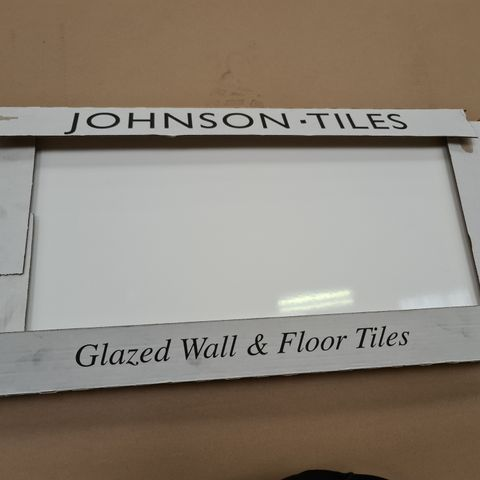 PALLET OF APPROXIMATELY 40 BRAND NEW CARTONS OF 5  WHITE GLOSS FIELD GLAZED TILES - 60X30X1.1CM