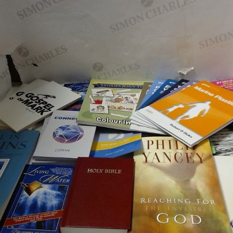 LOT OF APPROXIMATELY 26 ASSORTED THEOLOGICAL AND RELIGIOUS BOOKS
