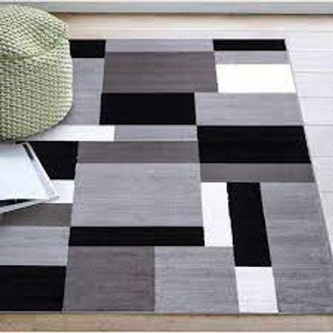 ELNA TUFTED GREY/BLACK/WHITE RUG 60X110CM