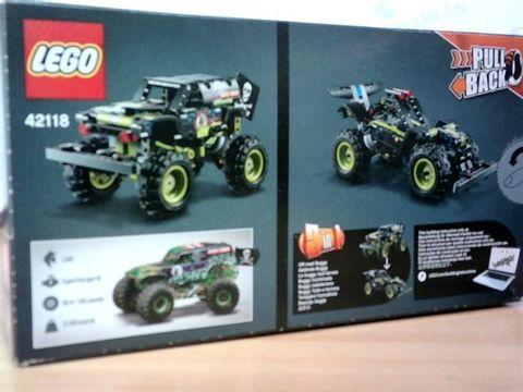 LEGO TECHNIC MONSTER JAM GRAVE DIGGER 42118 PULL BACK