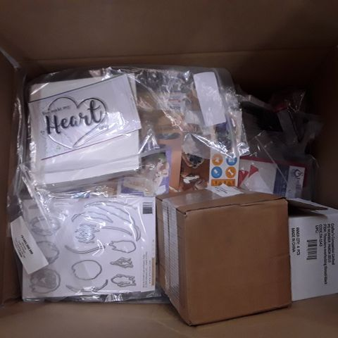 BOX OF APPROXIMATELY 65 ASSORTED CRAFT ITEMS