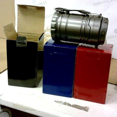 SET OF 3 POP UP LED LANTERNS WITH MAGNETIC BASES & SPOTLIGHT