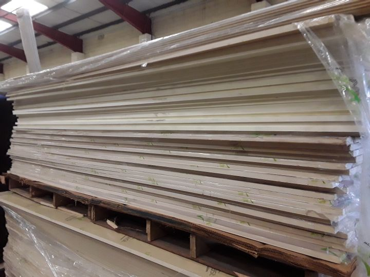 PALLET OF OF APPROXIMATELY 36 ASSORTED WPC 15MM SHEETS APPROXIMATELY 125 X 245CM