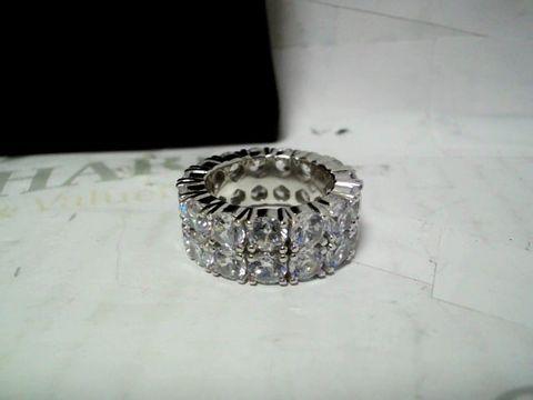 CERNUCCI DOUBLE ROW DIAMOND WHITE GOLD RING