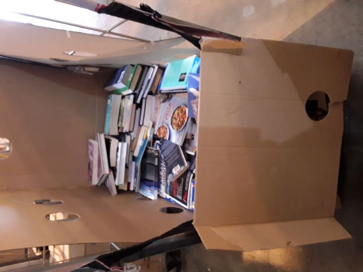 CAGE OF ASSORTED BOOKS