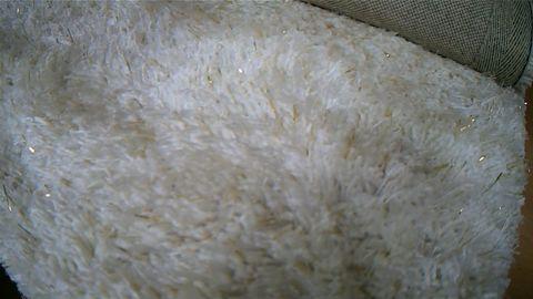 JULIE MCDONALD WHITE SPARKLE RUG - APPROXIMATELY 80X150CM