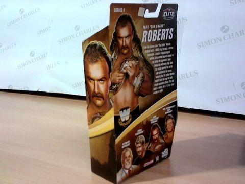 "MATTEL ELITE COLLECTION TRUE FX WWE LEGENDS JAKE ""THE SNAKE"" ROBERTS   8+"