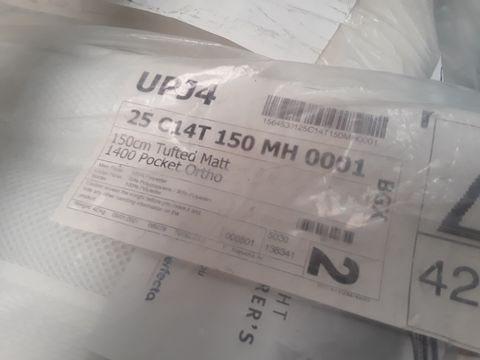 QUALITY BAGGED 150cm ECO COMFORT ORTHO 1400 POCKET SPRUNG MATTRESS