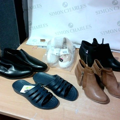 BOX OF A LARGE QUANTITY OF ASSORTED DESIGNER FOOTWEAR ITEMS TO INCLUDE ASOS, WALLIS, F&F, REALPAKS ETC